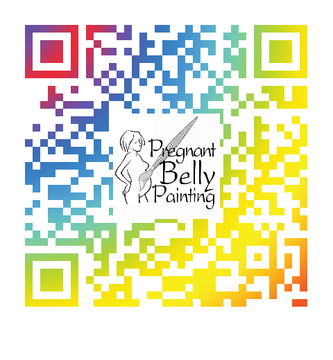 pregnant belly painting website qr code
