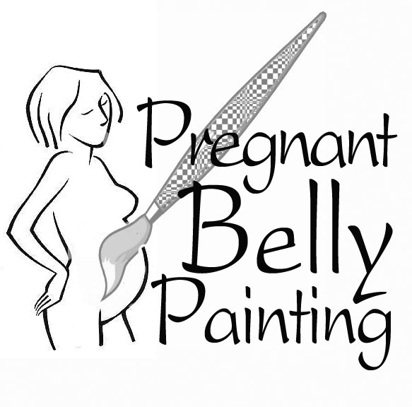 pregnant belly painting logo