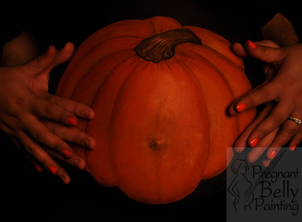 Pumpkin Halloween Belly Painting